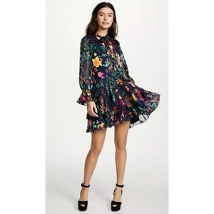 Alice + Olivia Moore Prisma Floral Layered Dress